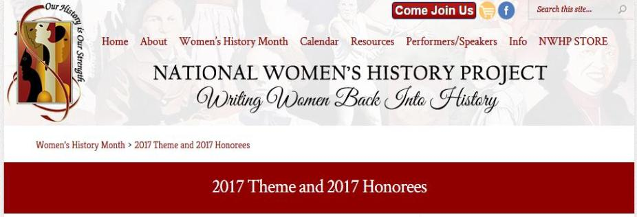 National Women's History Project 2017