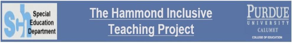 The Hammond Inclusive Teaching Project