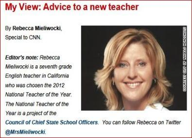 My View:  Advice to a new teacher