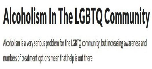 Alcoholism In The LBGTQ Community