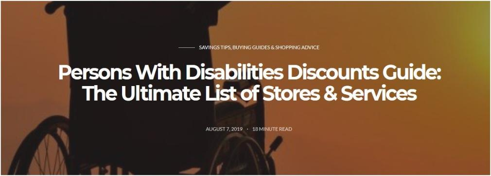 Disabilities Discounts Guide
