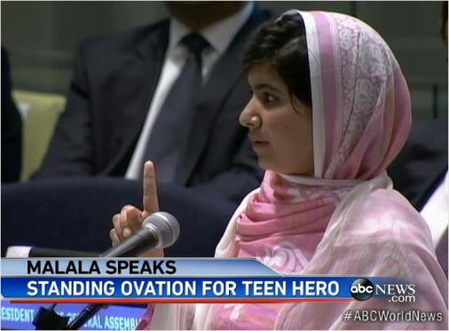 Malala Speaks at the United Nations