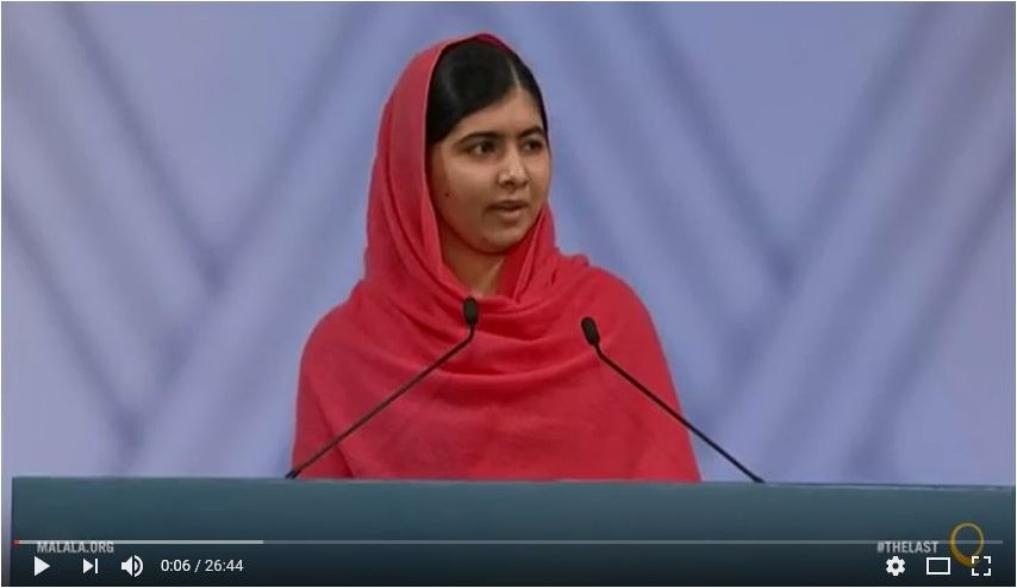 Malala Accepts Nobel Peace Prize