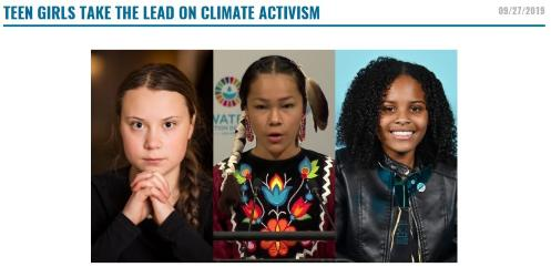Teen Girls Take the Lead on Climate Activism